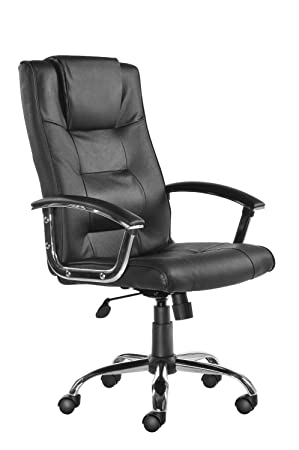 berlin leather faced executive office chair amazon co uk kitchen