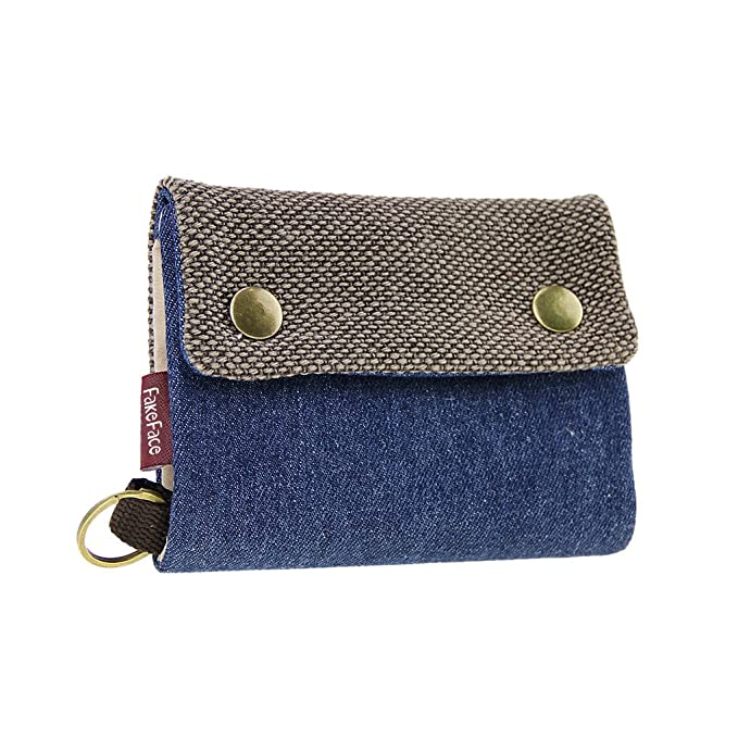 Amazon.com: Denim Trifold Cambio cartera Monedero cartera ...