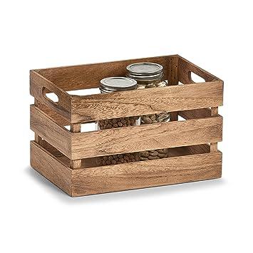 Zeller 15130 Caja de Almacenamiento, Madera, Blanco, 31x21x18.7 cm: Amazon.es: Hogar