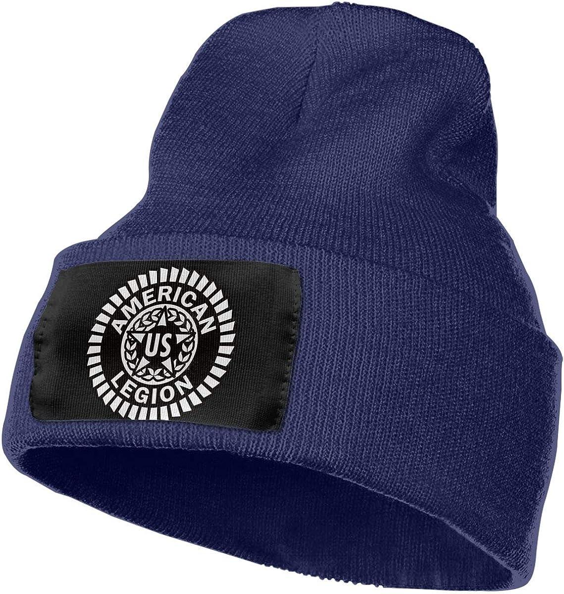 SLADDD1 US American Legion Trend Printing Warm Winter Hat Knit Beanie Skull Cap Cuff Beanie Hat Winter Hats for Men /& Women