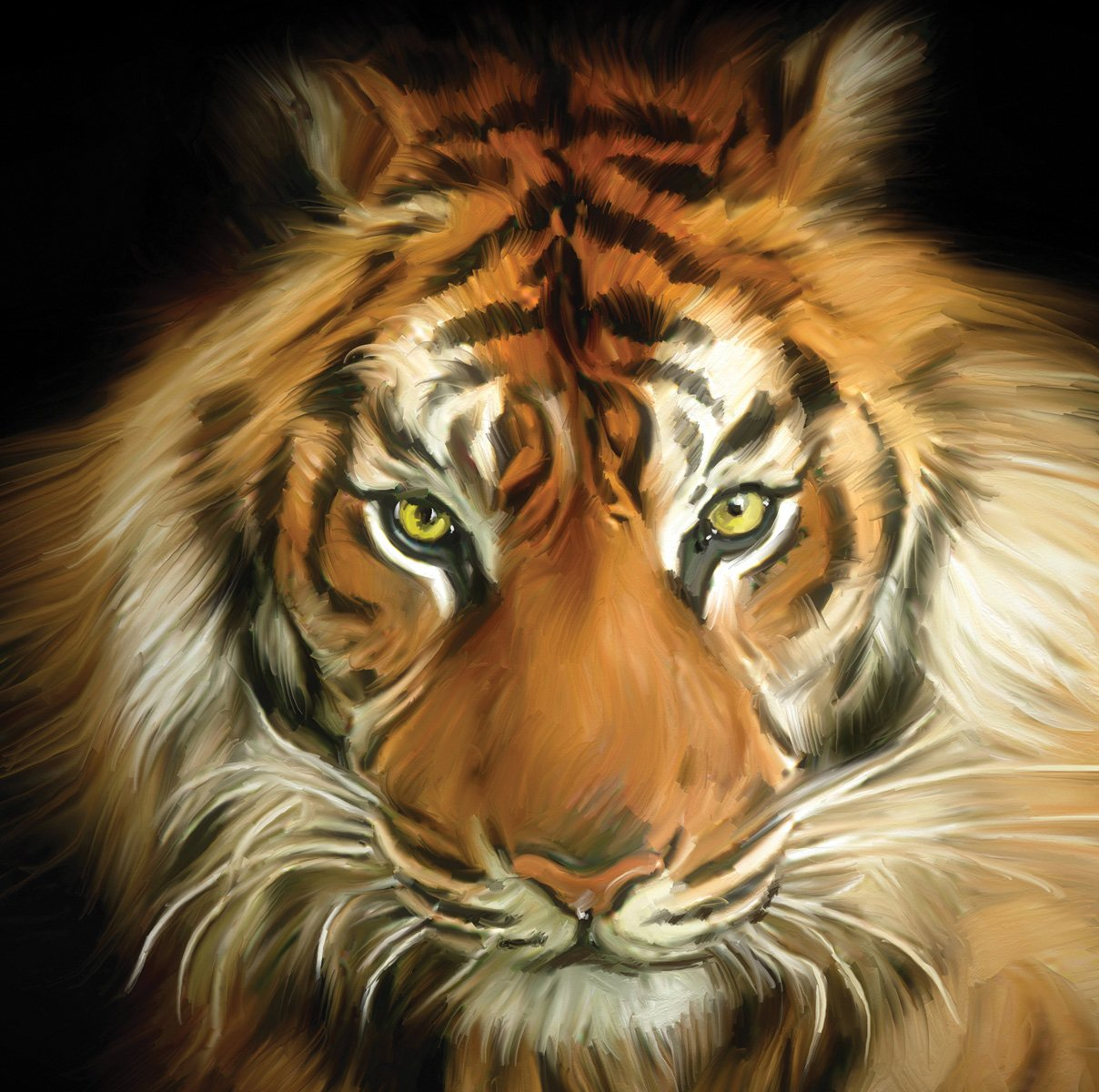 JP London SQM0010PS Peel and Stick Removable Wall Decal Sticker Mural Tiger Face At 6 High By 6 Wide