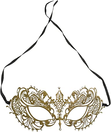 Black Laser cut Venetian Crystal Mask Masquerade Prom Wedding party female male