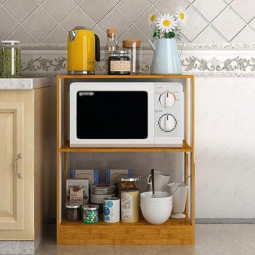 YZjk Soporte Base Cocina Horno microondas Parrilla Piso 2 Capas ...