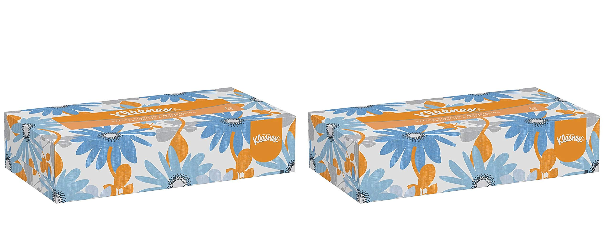 Kleenex Professional Facial Tissue for Business (21606) Flat Tissue Boxes, 2 Pack (1 case of 48)