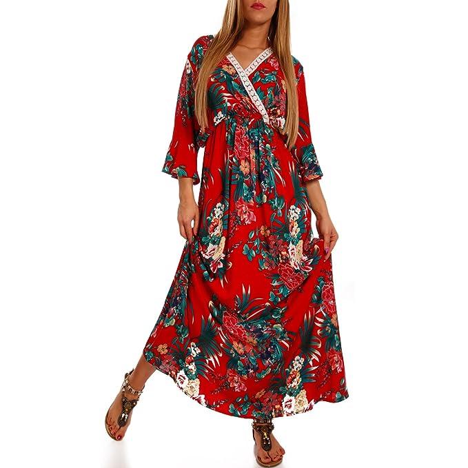 2368da1717f1 Young-Fashion Boho Maxikleid Kimonokleid Als stylisches Strand-Kleid ...