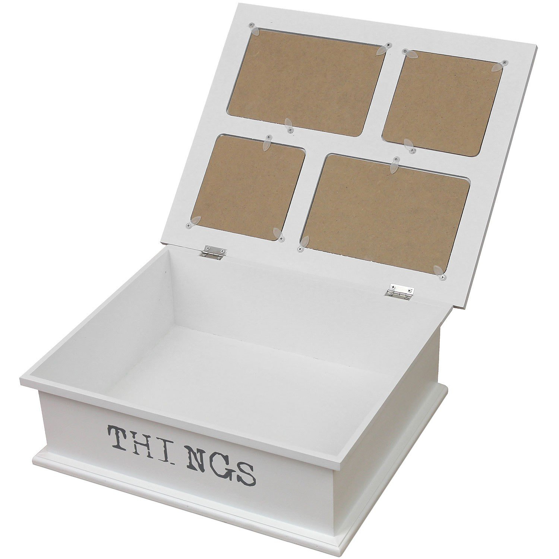 Fotobox 32x10x27cm mit 4 Fotorahmen 10x10cm und 10x15cm Shabby Chic ...