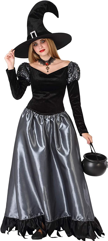 Atosa-61468 Atosa-61468-Disfraz Bruja- ADOLESCENTE- Mujer- gris, Color (61468)
