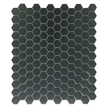 Amazon Black Matte Grade A Porcelain Hexagon Kitchen Or
