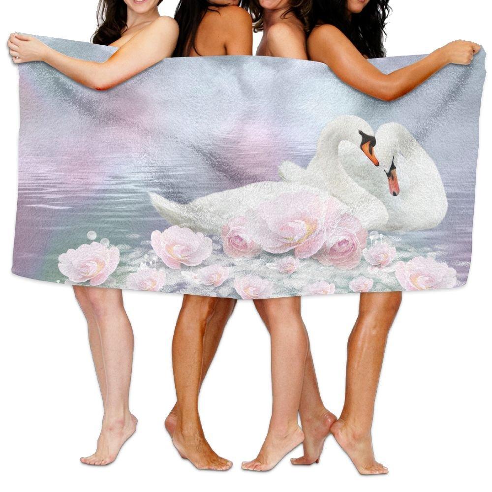 Lichang Beach Pool Custom Bath Towel Cute Animal Maltese Super Absorbent Microfiber (one Size, Fantasy Swan)