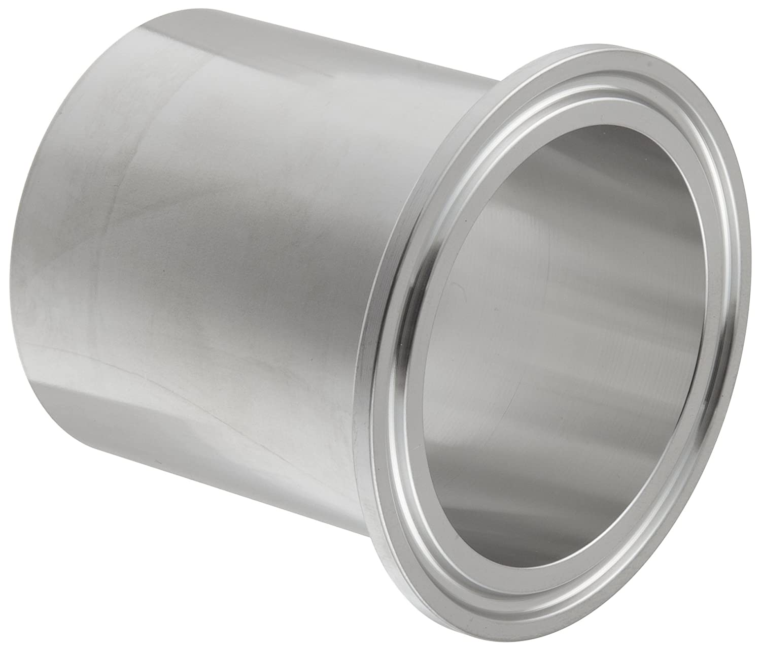 Dixon TL14AM7-100PL Stainless Steel 316L Sanitary Fitting 1 Tube OD 1 Tube OD Dixon Valve /& Coupling Automatic Weld Clamp Ferrule