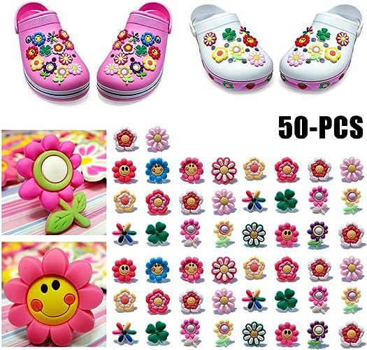 ZOYLINK Shoe Charms, 50 Pcs PVC Shoes