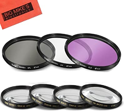 for Canon EOS Rebel T3 Multithreaded Glass Filter 1A Multicoated Haze 67mm UV