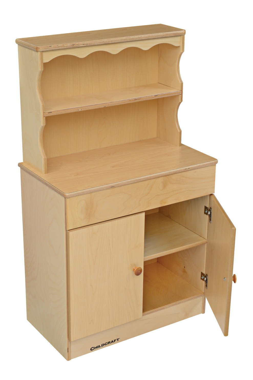 Childcraft 1386210 Traditional Dutch Cabinet, Plastic Laminate Top, 41'' x 13-5/8'' x 23-7/8'', Natural Wood Tone