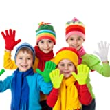Cooraby 12 Pairs Kids Warm Magic Gloves Teens