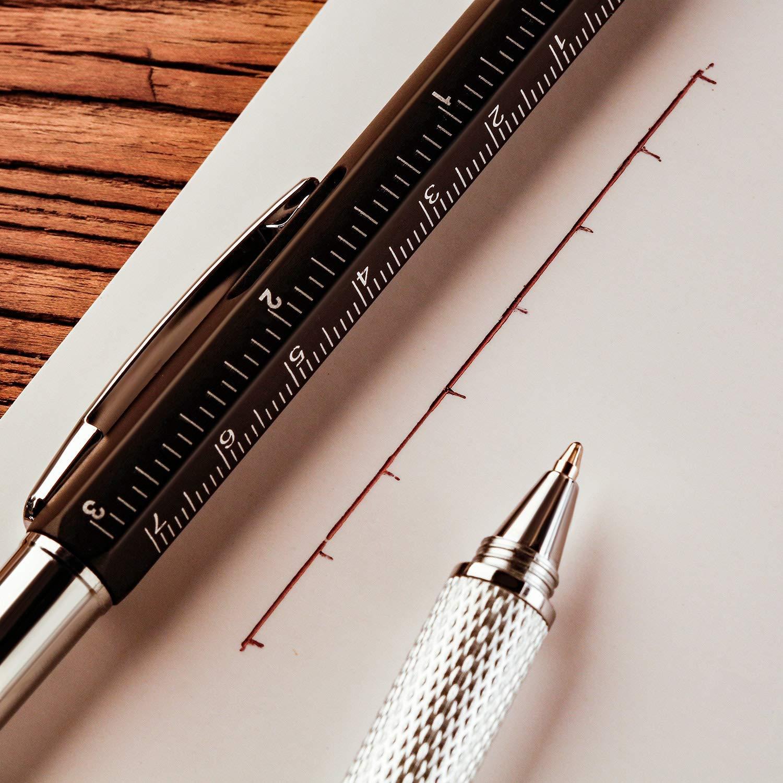 6 in 1 Pen,Penna con Incisione,Penna a Sfera Touch,Penna Stilo Personalizzata,Penna Stilo Multifunzione,Gadget Regalo Uomo,Penna Utile,Gadget Regalo Donna,Multifunzione Penna
