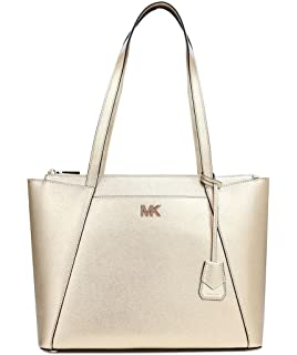 9100e7161e8a77 Michael Kors Maddie Medium Crossgrain Leather Tote, Women's Pink ...