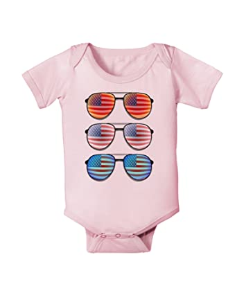 f60979c8f5 Amazon.com  Red White and Blue USA Flag Aviators Infant One Piece Bodysuit   Clothing