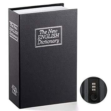 Book Safe With Combination Lock Parrency Home Dictionary Diversion Metal Safe Lock Box 9 1 2 X 6 X 1 1 3 Black Medium Sbh M001