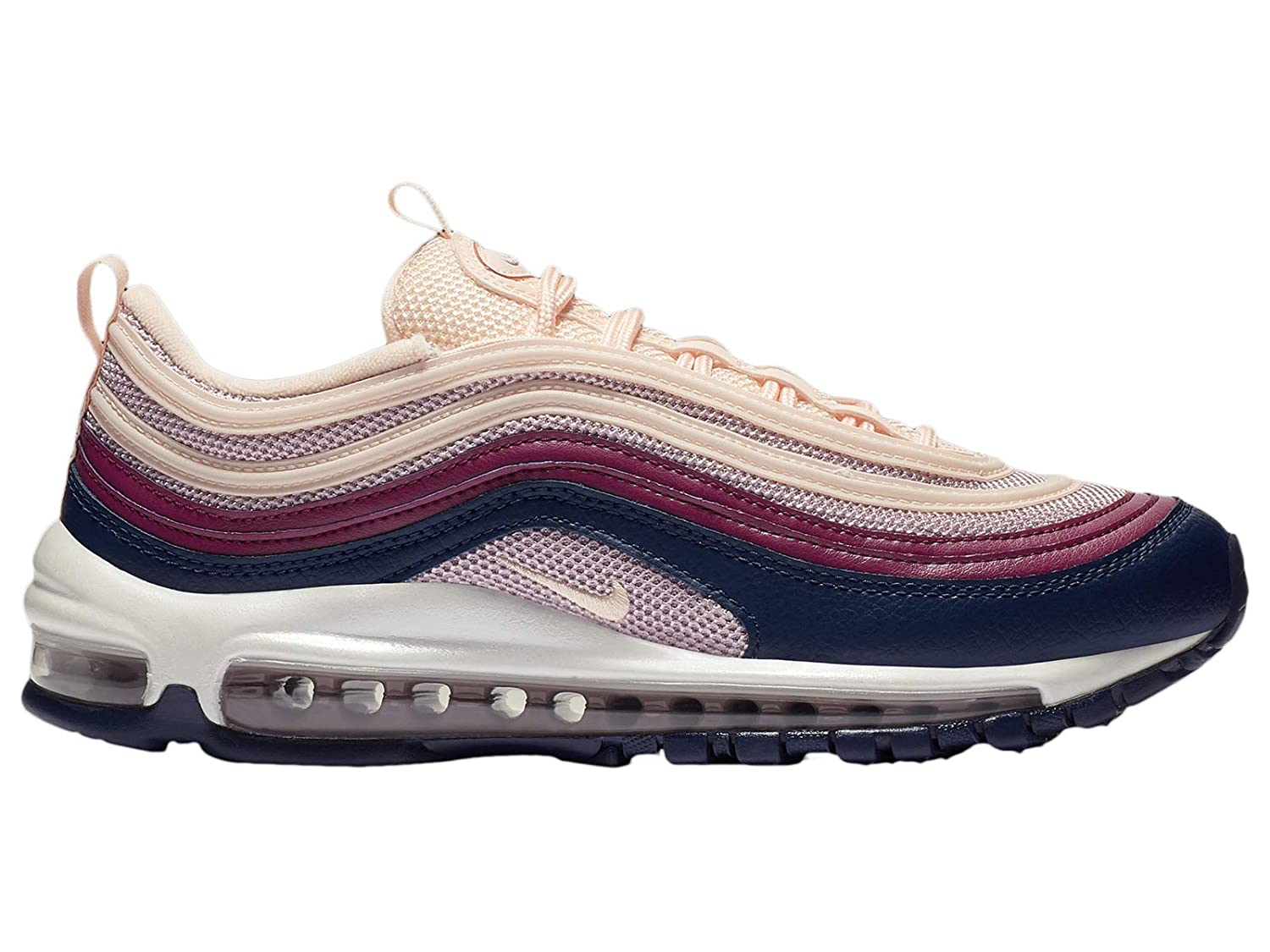Nike Women's Air Max 97 Crimson TintPlum ChalkBlueWhite Synthetic Running Shoes 9 M US