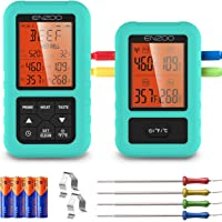 ENZOO Wireless Meat Thermometer, 500FT Meat Thermometer for Grilling Smoking, Remote Smoker Thermometer with 4 probes…