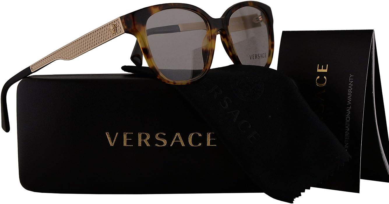 32f2118a111d Amazon.com  Versace VE3240 Eyeglasses 52-16-140 Havana w Demo Clear ...