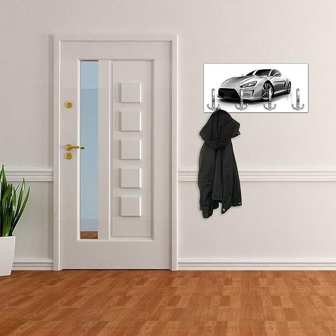 dalinda Perchero con diseño Plateado Sport Carro Pared ...
