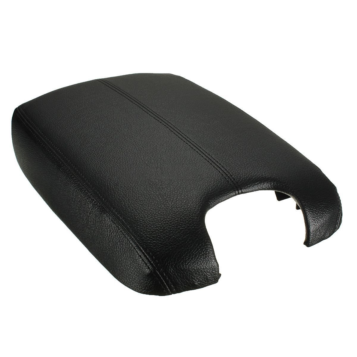 Console Armrest Cover - SODIAL(R) Black Leather Console Lid Armrest Cover (Leather Part Only) For Honda Accord
