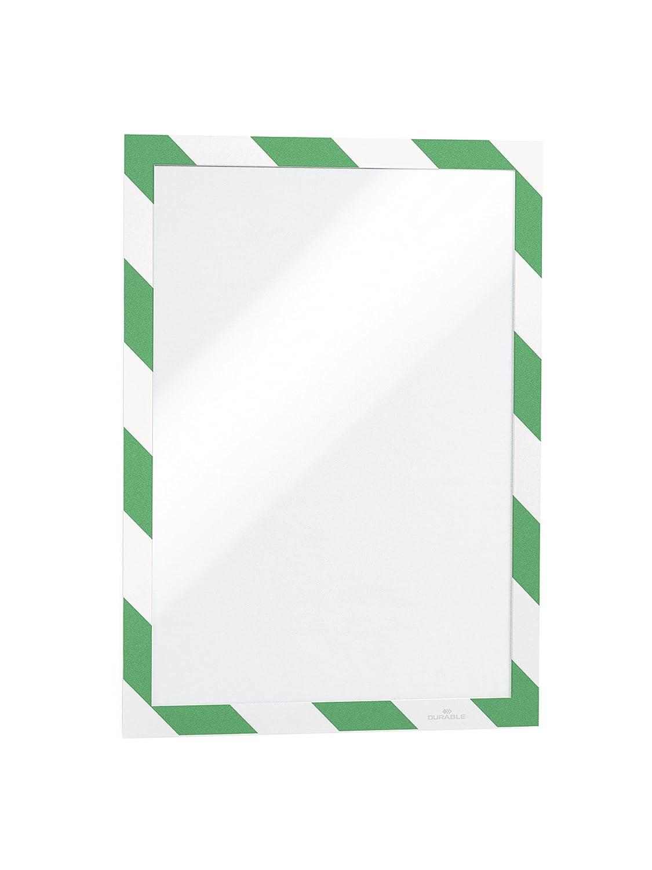 Durable 4946130 Duraframe SECURITY Cadre d'affichage adhésif bicolore pour signalétique prévention des risques Jaune/noir - Format A4 - Sachet de 10