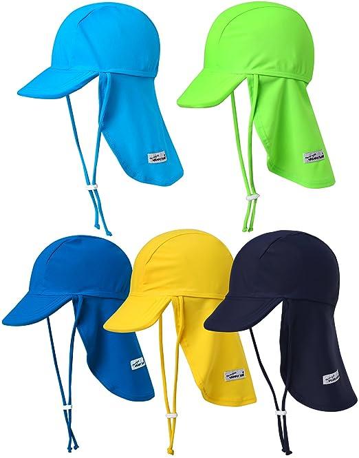b998d93c5020c Vaenait Baby Infant   Kids Boys Sun protection Sporty Flap Swim hat UV Flap  Cap Blue