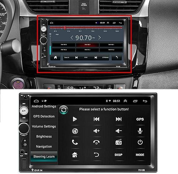 Radio de Coche 7 GPS Navegador Reproductor Multimedia Digital Radio Enlace Espejo Control del Volante Ajuste para V-W T-OYOTA Golf N-issan H-yundai Kia CR-V,2g 16g: Amazon.es: Deportes y aire libre