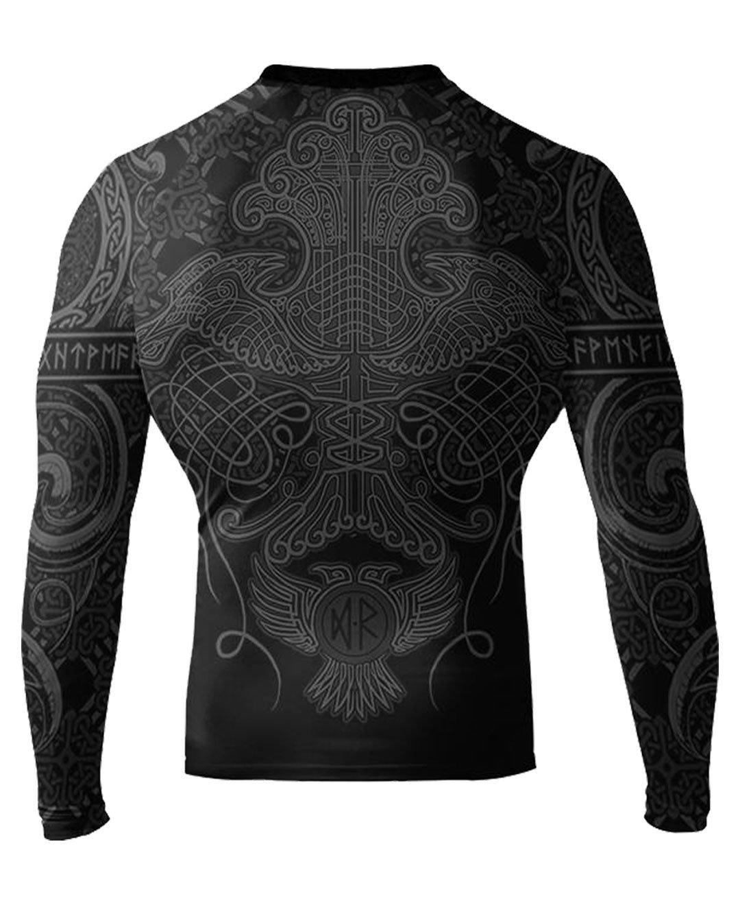 Raven Fightwear Rash Guard Nordic Camicia a Compressione Manica Lunga Uomo MMA Fitness Crossfit BJJ Grappling