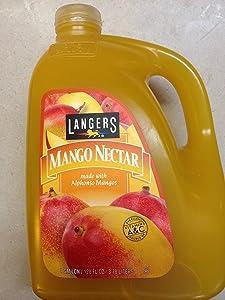 Langers Mango Nectar Made with Alphonso Mango, 1 Gallon, 3.78 Liters