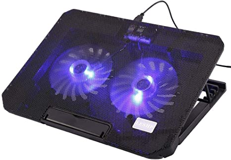 "New 5 Fan Blue LED 10-17/"" Laptop Notebook Cooling Cooler Stand Pad USB Port"