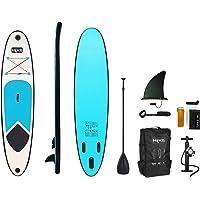 HIKS Blue 10ft / 3m Kids Stand Up Paddle SUP Board Set Inc Paddle, Pump, Backpack & Leash