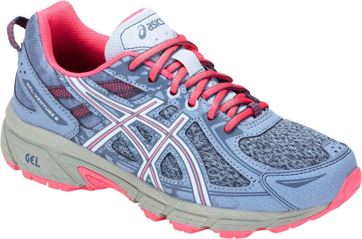 ASICS Gel-Venture 6 GS Kid's Running Shoe, Blue Harmony/Pink Cameo, 1.5 M US Little Kid