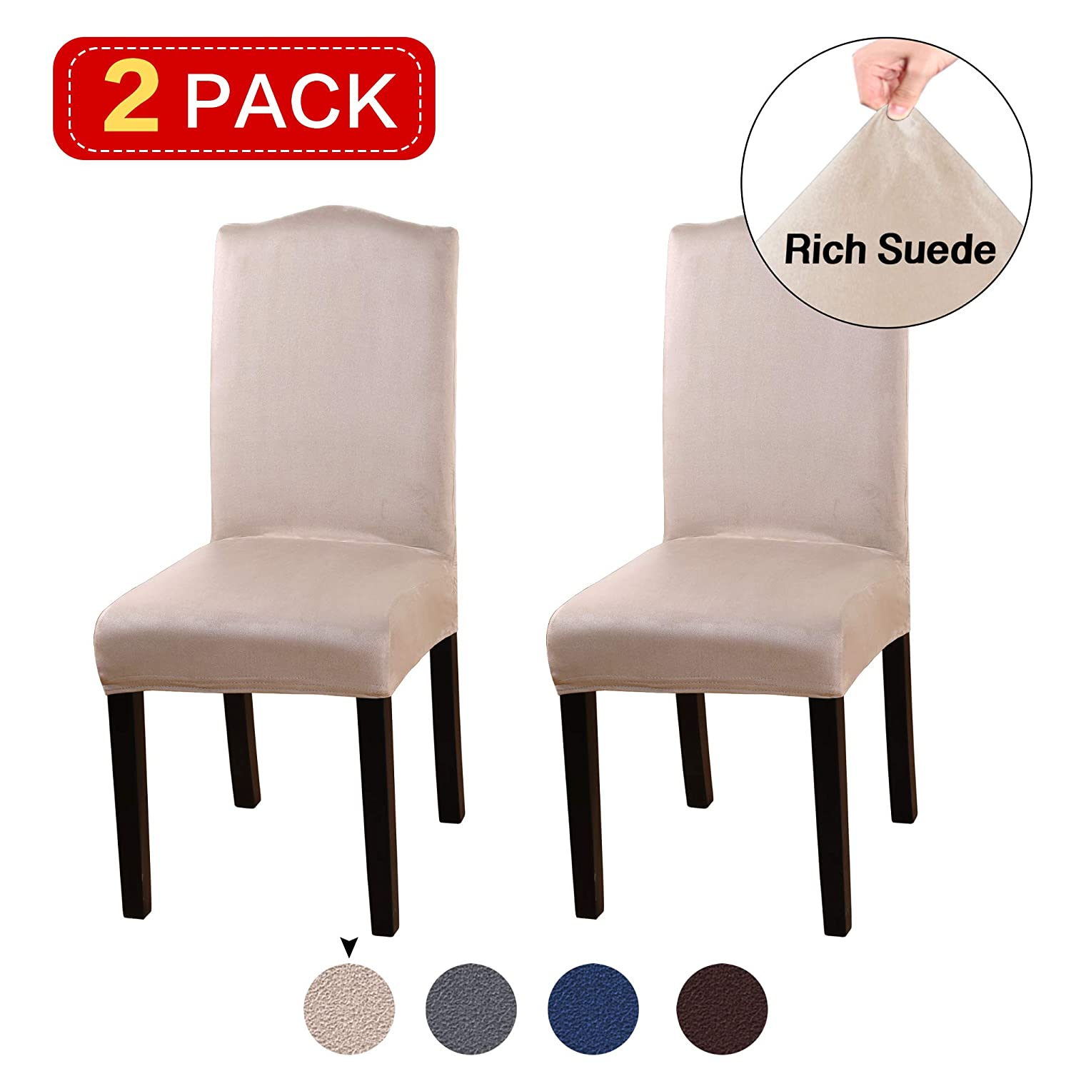 Ceremony Turquoize Stretch Dining Room Chair Slipcovers Washable Removable High Chair Protector Cover Seat Slipcover for Hotel Banquet Wedding Partym Set of 2 Dining Room