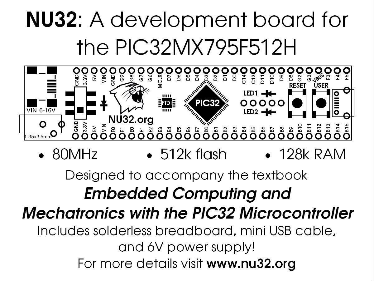 NU32 PIC32 Development Board