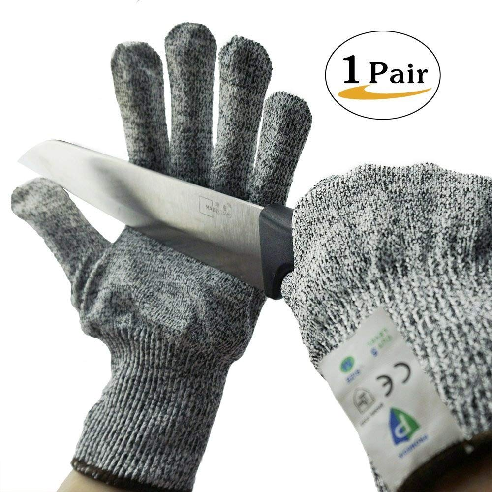 Cut Resistant Gloves Kitchen - PROMEDIX - 1 Pair Cutting Gloves with Level 5 Protection,Food Grade, Size (Medium) PROMEDIX COMPANY LIMITED