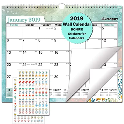 Cranbury Large Wall Calendar 2019 15x12 2019 Wall