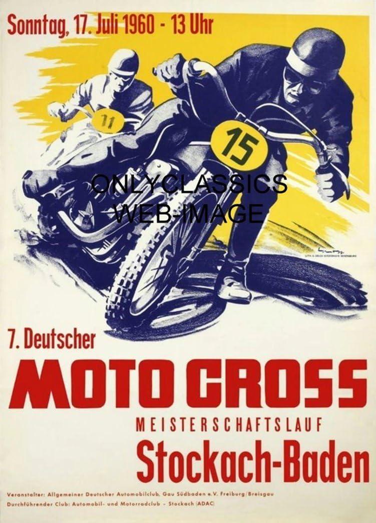 Hockenheim 1959 Grosser Preis German Motorcycle Racing Vintage Poster Print Art