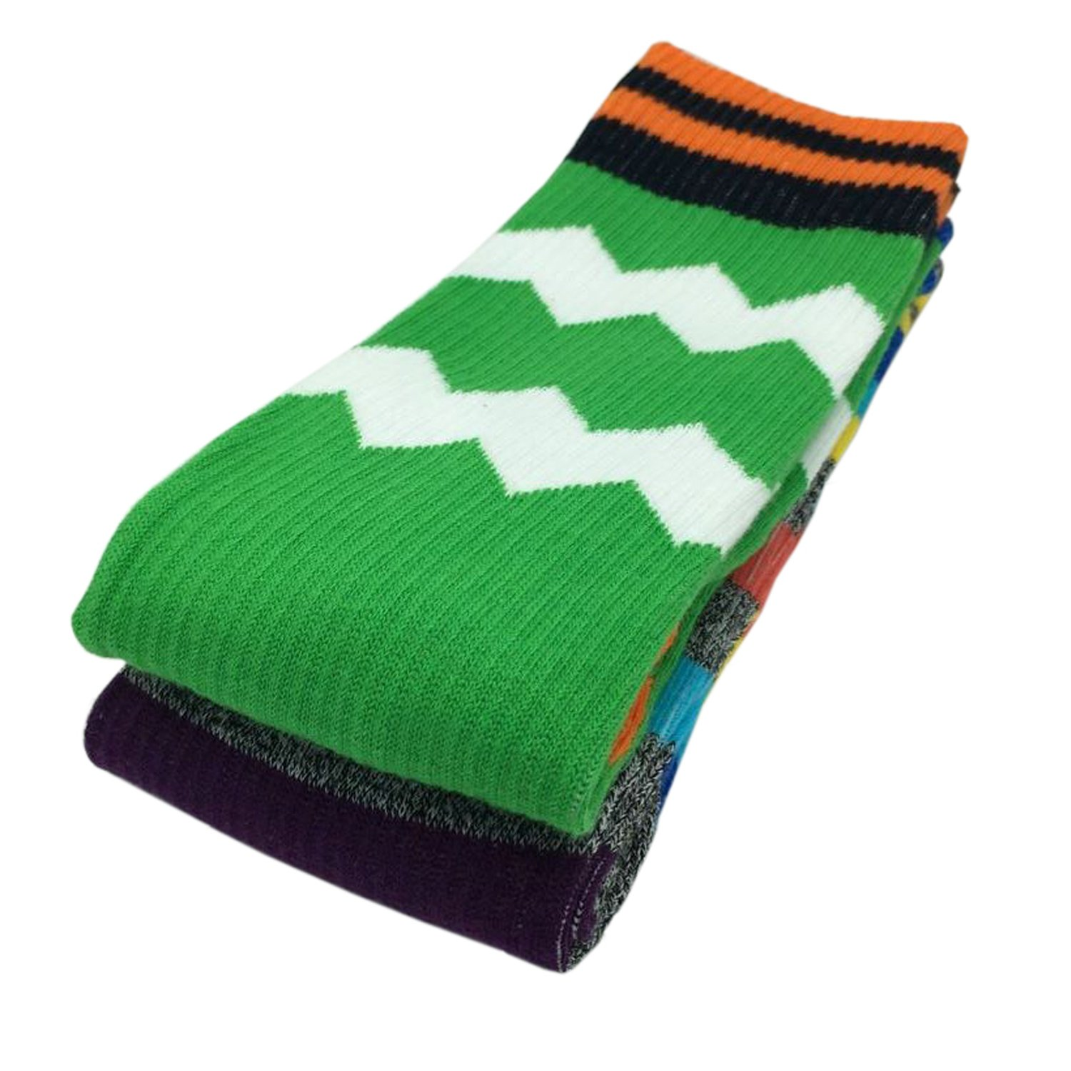 4820e52db4981 Amazon.com: LEADSY Men Colorful Sports Athletic Compression Socks 2 Packs  Fashionable Novelty Funny Argyle Dress Socks: Clothing