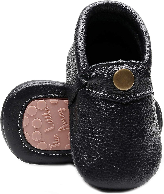 HONGTEYA Premium Leather Baby Slippers