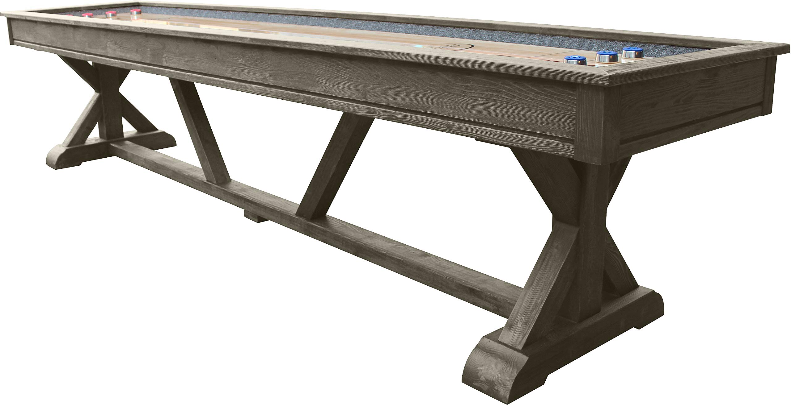 Playcraft Brazos River 12' Weathered Gray Pro-Style Shuffleboard Table by Playcraft