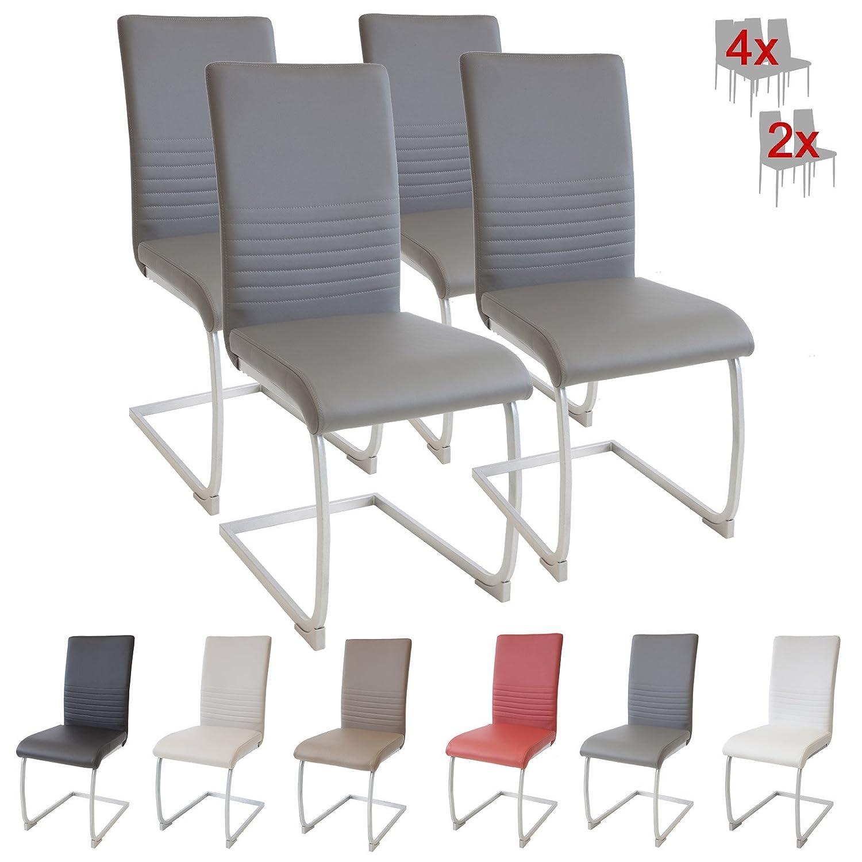 Albatros chaise cantilever MURANO Lot de 4 chaises - gris - testé par SGS
