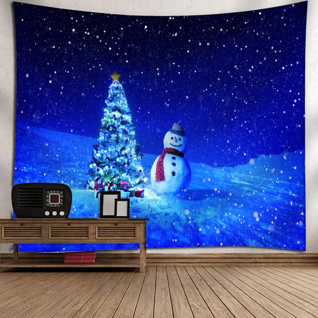 Baisheng Tapisserie de Style de No/ël Tapisseries murales pour la d/écoration de la Chambre Arbre 1-51,1x59,1 Pouces // 130x150 cm du Salon et du dortoir