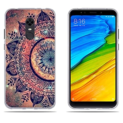 DIKAS Funda Xiaomi Redmi Note 5, Carcasa Xiaomi Redmi 5 Plus, Carcasa de Silicona, Fina, Ultra Suave, Funda Protectora Anti-Golpes para Xiaomi Redmi 5 ...