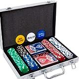 Yinlo Poker Chips Set - 200PCS / 300PCS Poker Sets with Aluminum Case, 11.5 Gram Casino Chips for Texas Holdem Blackjack…