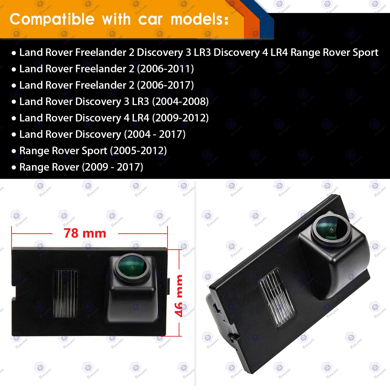 Auto Wayfeng/® Special Car Rearview Rear View Reverse Backup Camera for Land Rover Discovery 3 Range Rover Sport Freelander Freelander 2