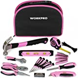 WORKPRO 103-Piece Pink Tool Kit with Easy Carrying Round Pouch