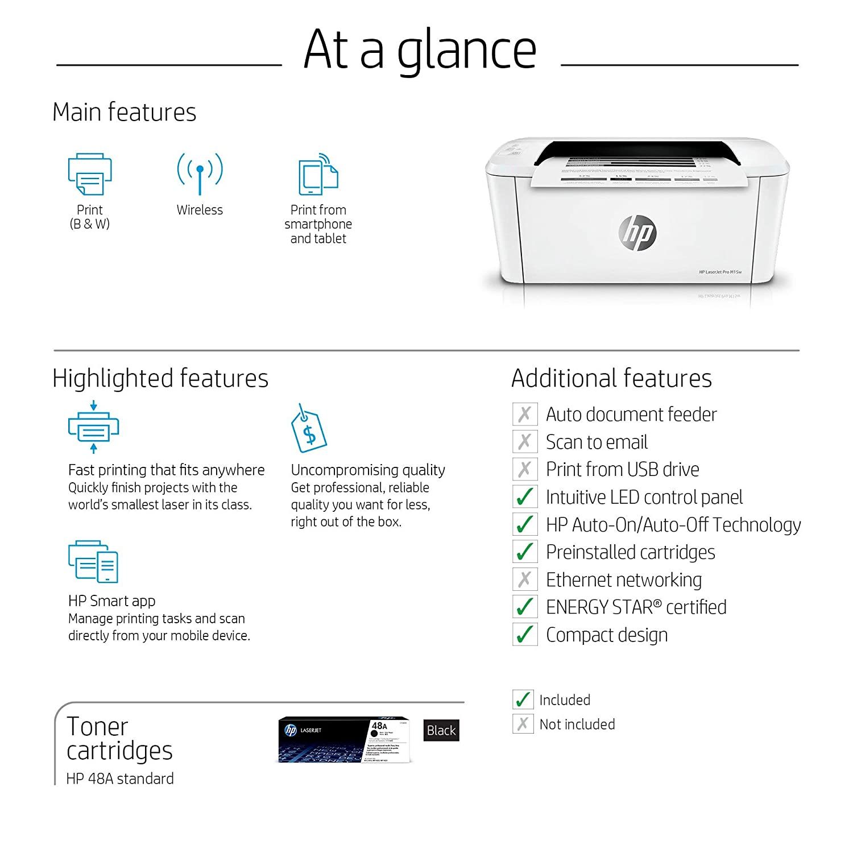 Amazon.com: Impresora láser inalámbrica HP Laserjet Pro M15w ...